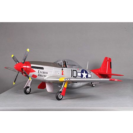 P-51D, Red Tail, V8, PNP, 1450m